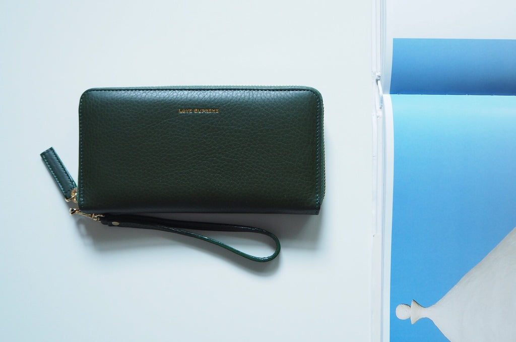 Round Zip Wallet - Dark Green