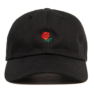Black Rose Dad Hat - Above the Stars