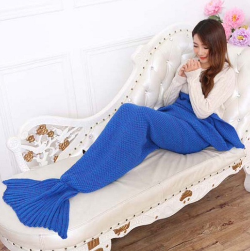 Duke Blue Mermaid Tail Blanket - Above the Stars