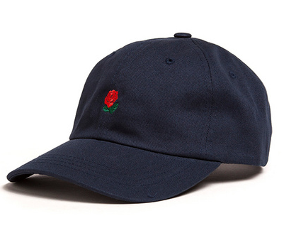 Navy Rose Dad Hat - Above the Stars