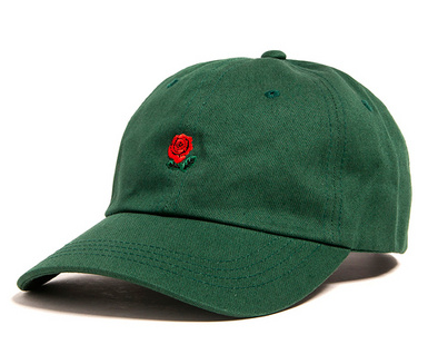 Green Rose Dad Hat - Above the Stars