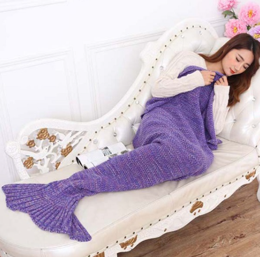 Purple Mermaid Tail Blanketblank - Above the Stars