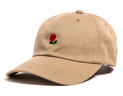 Khaki Rose Dad Hat - Above the Stars