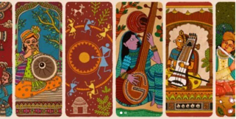 74th Independence day Google Doodle