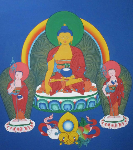 Buddha with two disciples