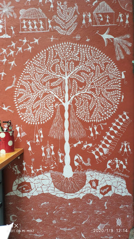 Tree of Life warli at Sabor Cafe hong kong