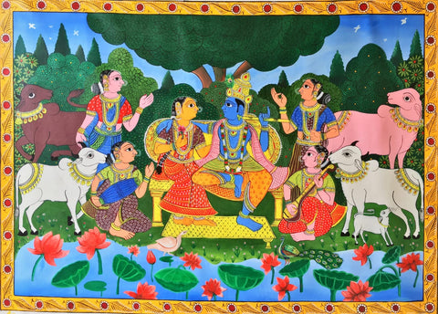 radha krishna cheriyal scroll