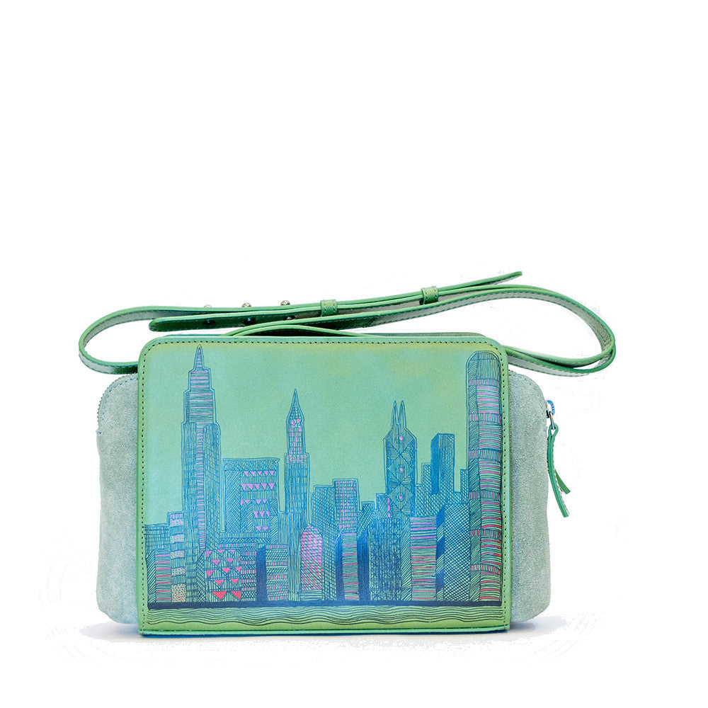 Oh Bags | Mint Green Handbag | Hong Kong Skyline |