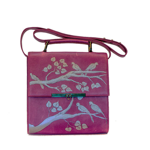Flowers (Pink) Wooden Clutch