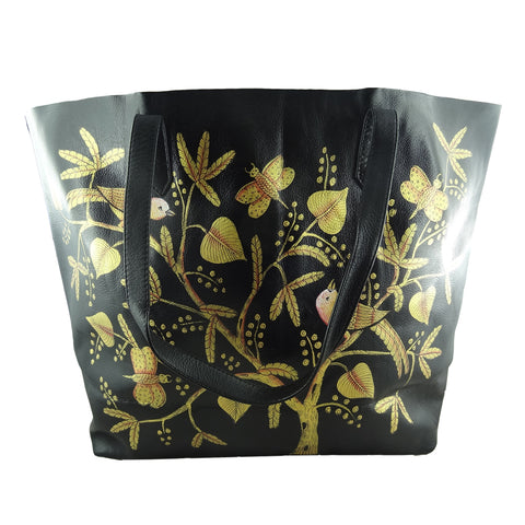 Birds of Feather Golden, BLACK TOTE BAG