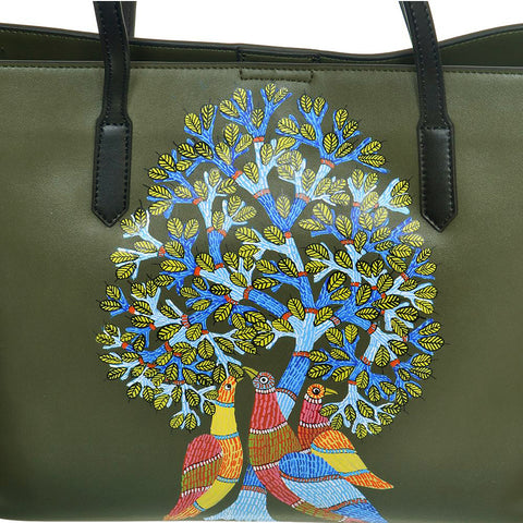 Peacocks Melody, Green Tote