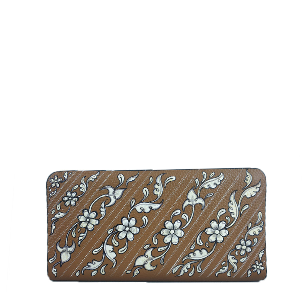 FLOWERS (TAN WALLET)