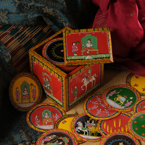 Chang Kanchan (Mughal Ganjifa), set of 96 handpainted Ganjifa cards