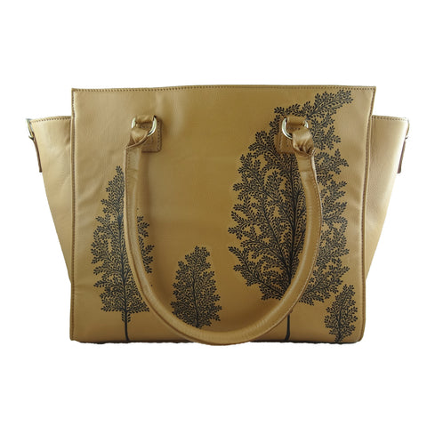 TREE OF LIFE TAN LAPTOP BAG