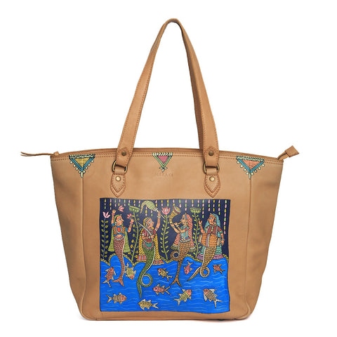 Return to the Root, Blue Vegan Laptop Bag/Tote