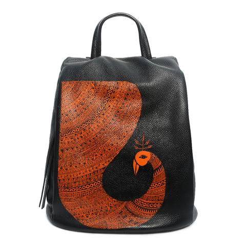 Peacock Leather Backpack