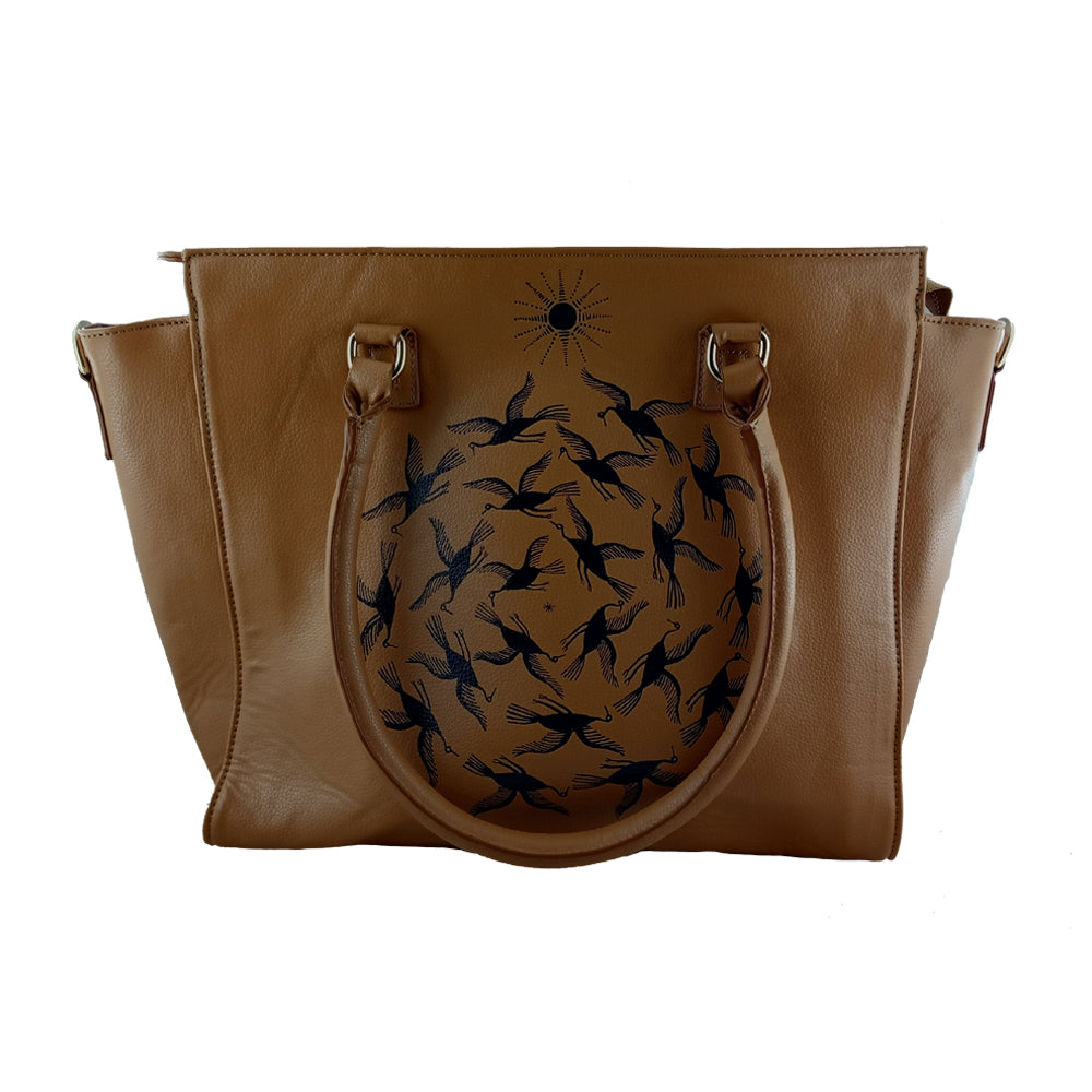 THE BLACK BIRDS, TAN LAPTOP BAG