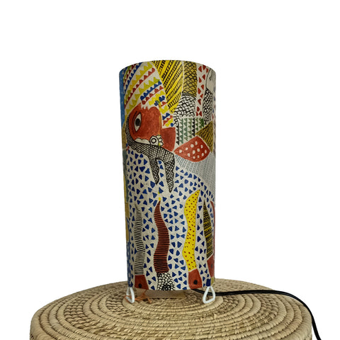 Her Hopes, Madhubani handpainted lamp