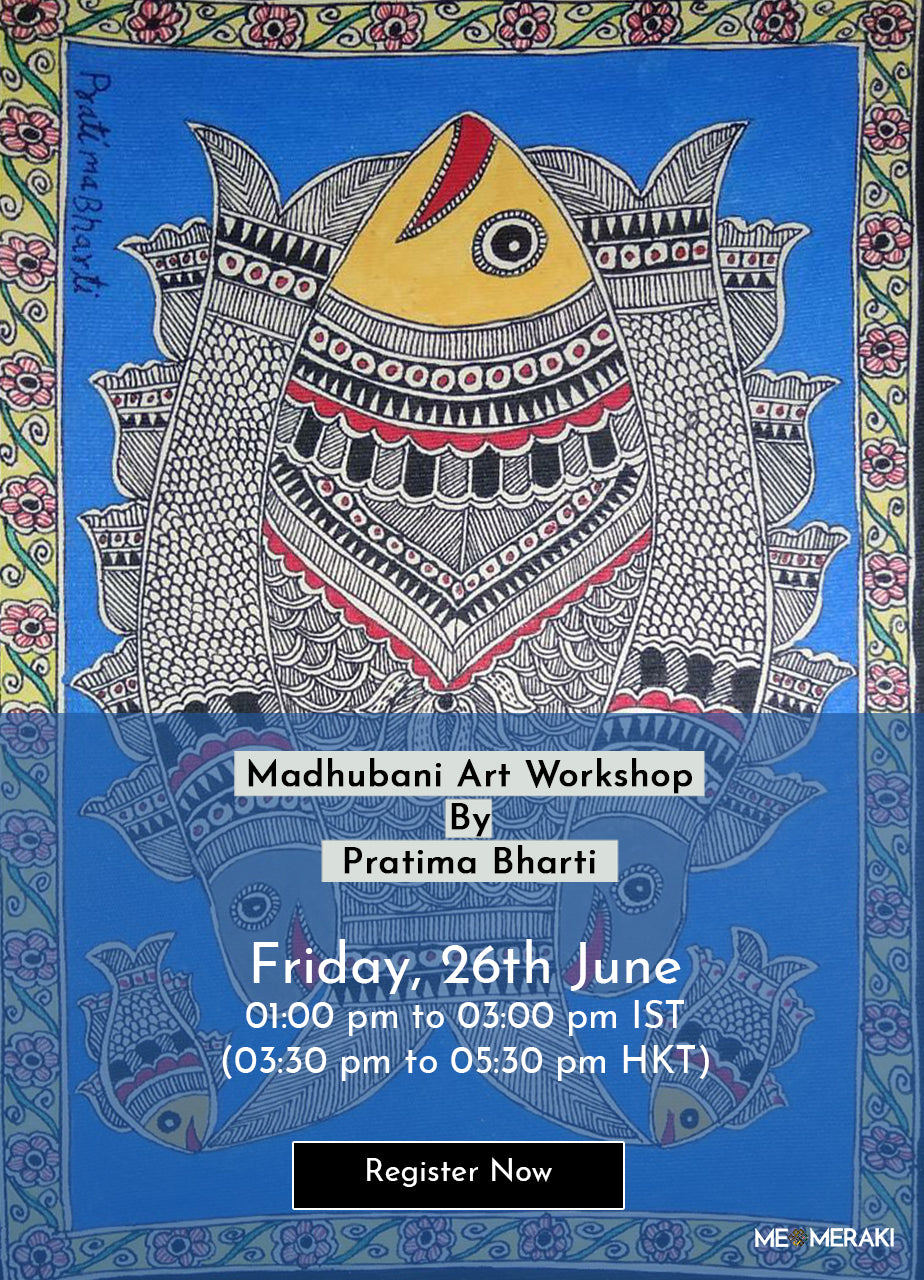 26TH JUNE: ONLINE MADHUBANI ART WORKSHOP BY PRATIMA BHARTI