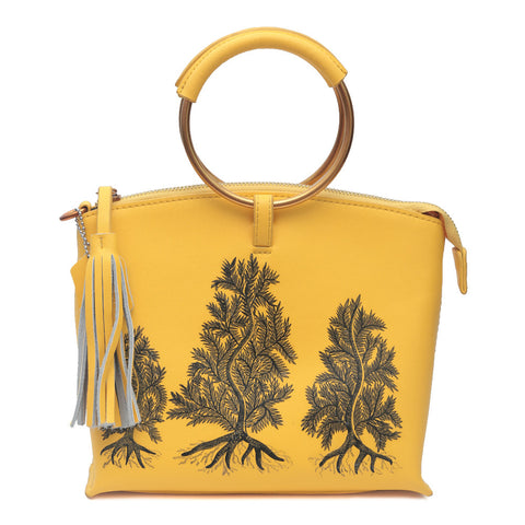 RETURN TO THE ROOT, WOODEN CLUTCH IN YELLOW