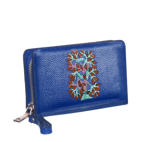My Deepest Roots, Blue Top Grain Leather Wallet