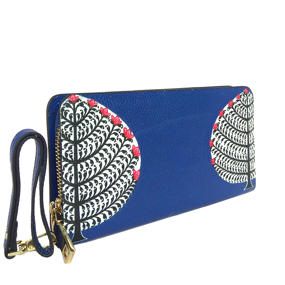 My Deepest Roots, Blue Pattachitra Wallet