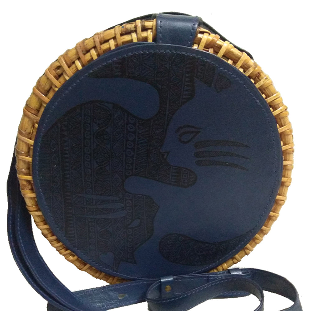 No Finer Things Than Cats, Blue Round Cane Sling