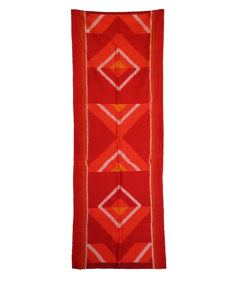 OPTICAL - RED Handwoven SILK STOLE