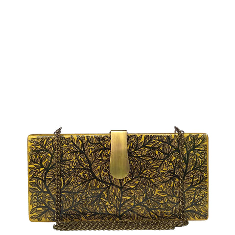 Return to the Root Wooden Clutch