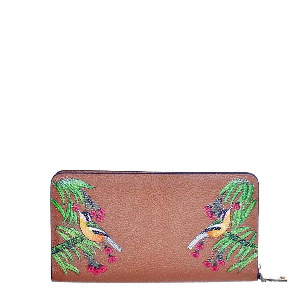 Birds of a Feather, Tan Leather Wallet
