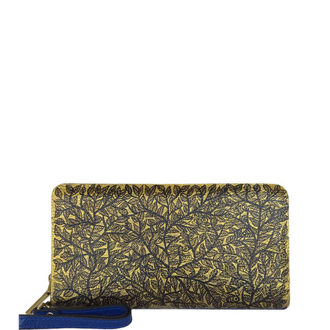 Flowers (Blue Wallet)