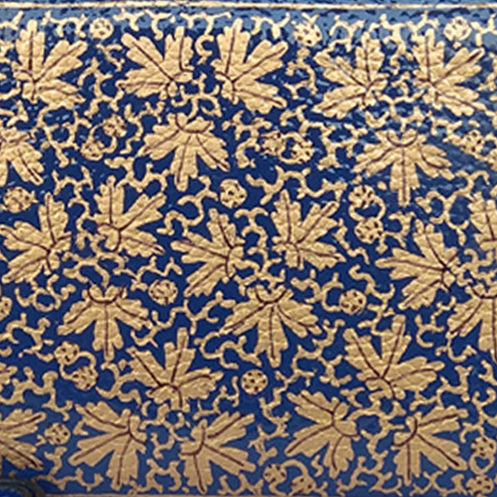 GOLD CHINAR, BLUE WALLET