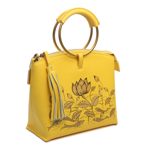 Be Like Lotus (Yellow Wristlet)