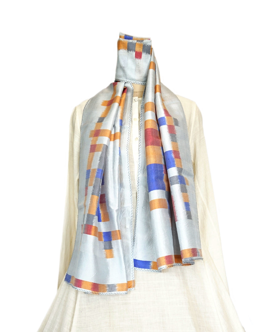 ABSTRACT - MULTICOLOR Handwoven SILK STOLE