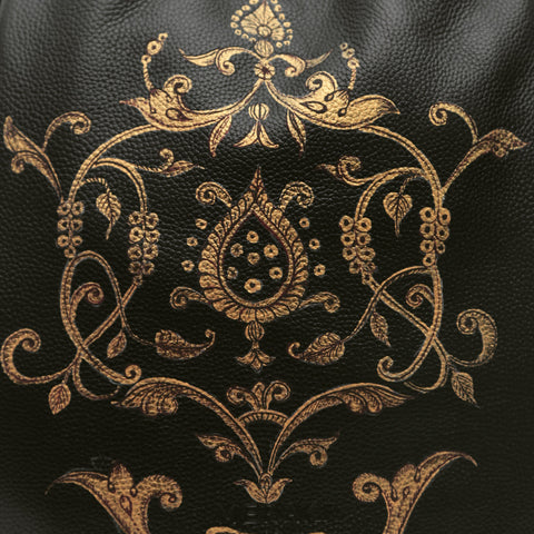 Baroque Patterns, black backpack
