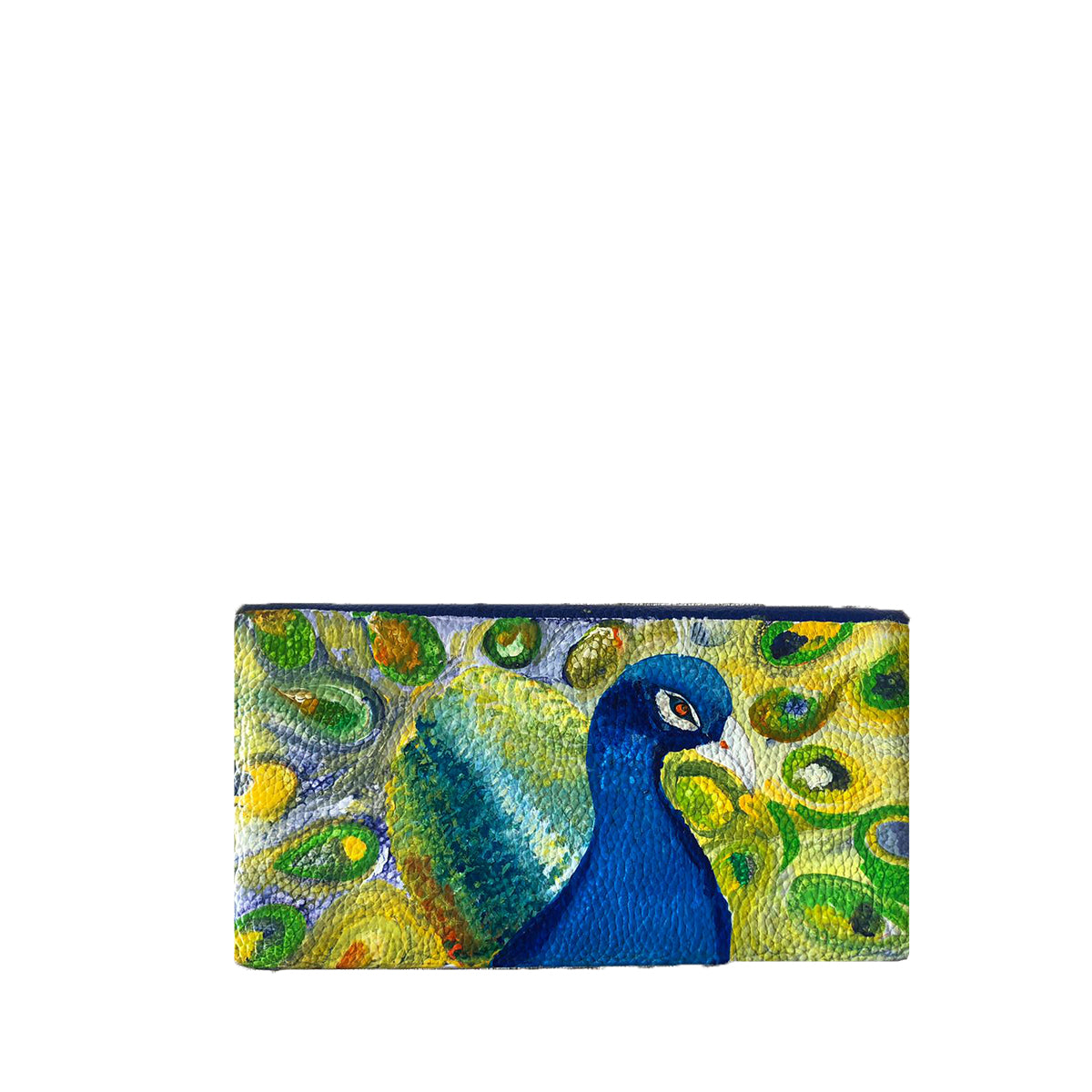 THE PEACOCK, BLUE WALLET