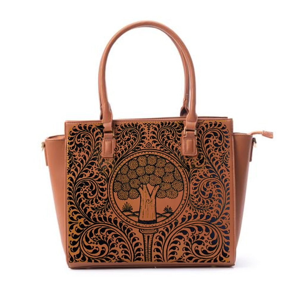 THE SEEDS OF LOVE TAN LAPTOP BAG