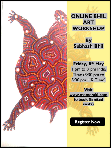 8th MAY: ONLINE BHIL PAINTING WORKSHOP BY SUBHASH BHIL