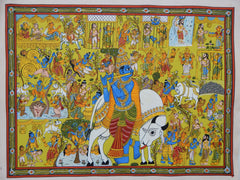 SRIKRISHNA STORY, CHERIYAL SCROLL PAINTING