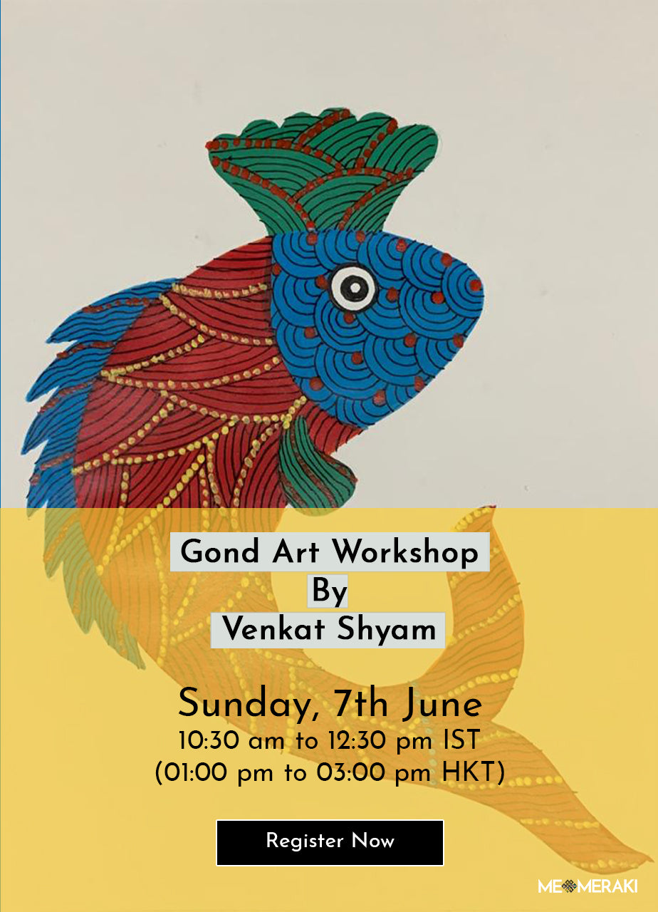 7TH JUNE: ONLINE GOND ART WORKSHOP WITH VENKAT SHYAM