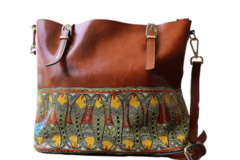 Ebbs and Flows | Handpainted Leather Bags by Meraki