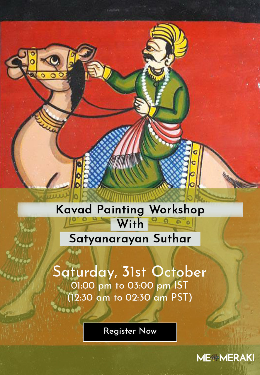 BUY RECORDING: ONLINE KAVAD PAINTING WORKSHOP BY SATYANARAYAN SUTHAR