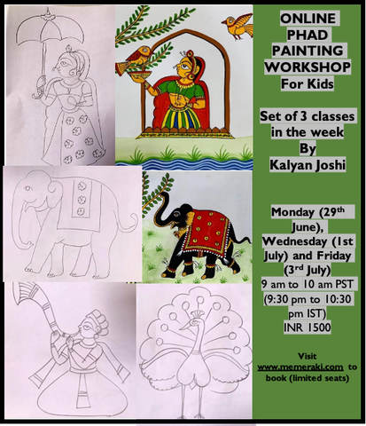 Phad painting workshop for kids