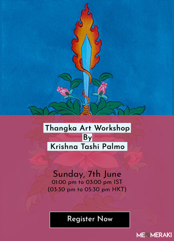 7TH JUNE: ONLINE THANGKA PAINTING WORKSHOP BY KRISHNA TASHI PALMO