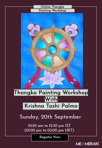 20TH SEPTEMBER: ONLINE THANGKA PAINTING WORKSHOP WITH KRISHNA TASHI PALMO