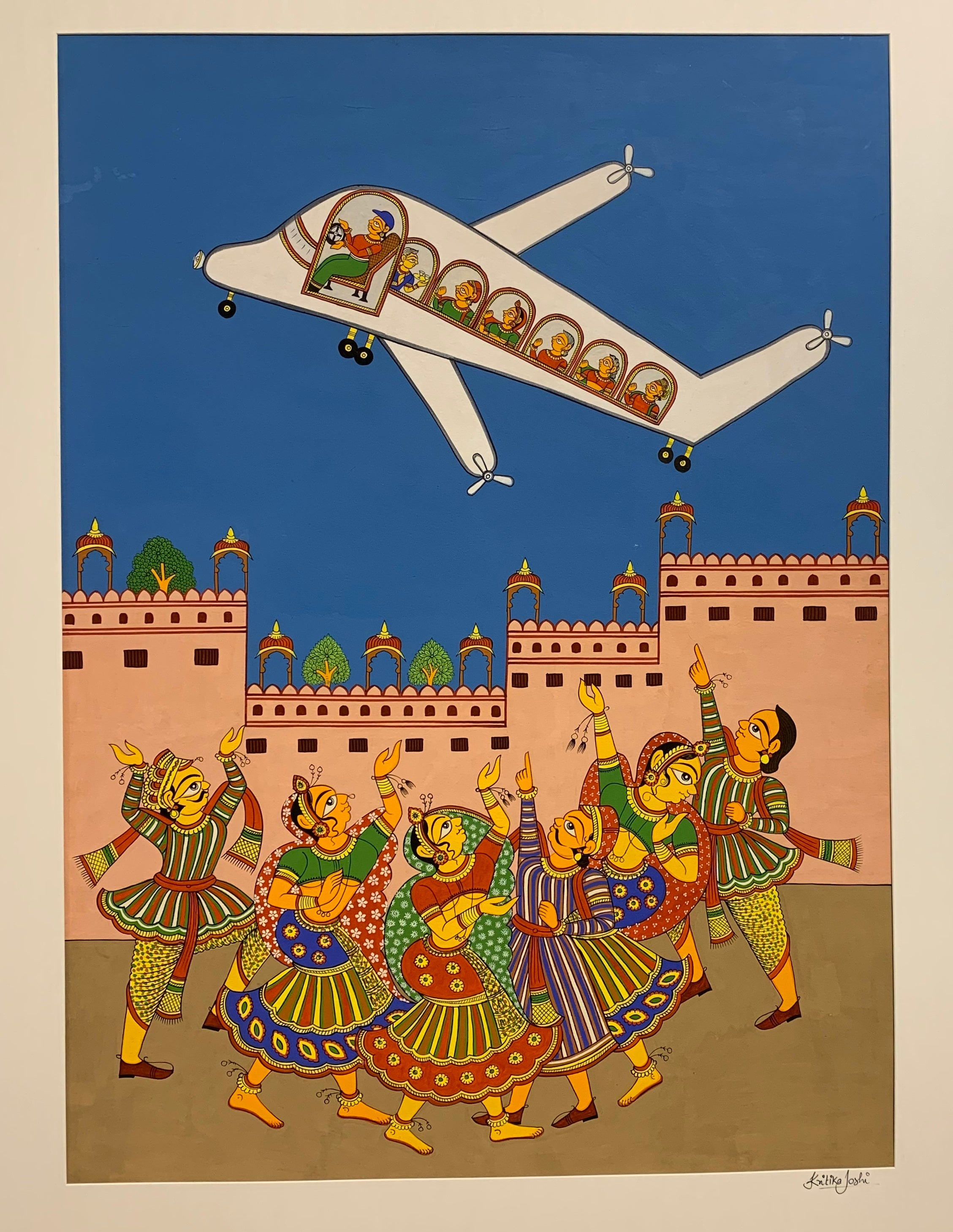 The Aeroplane: PHAD PAINTING BY KRITIKA JOSHI