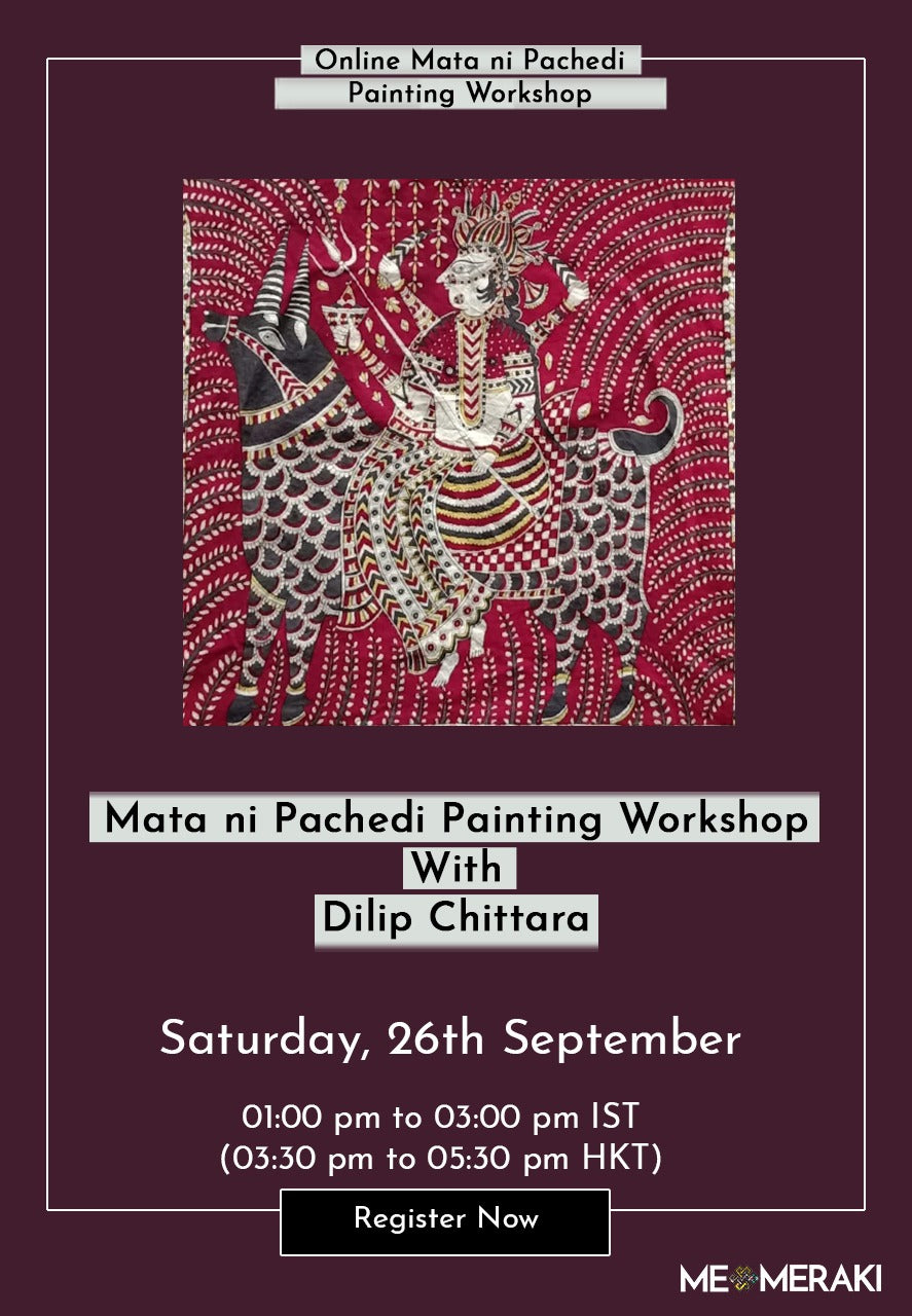 26TH SEPTEMBER: ONLINE MATA NI PACHEDI PAINTING WORKSHOP WITH DILIP CHITTARA