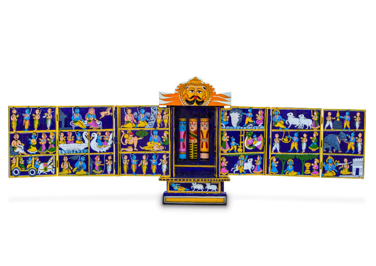 Marwari Kavad by Satyanarayan (10 part kavad, 14 inch height)