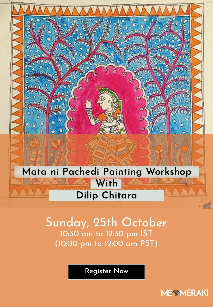 25th October: ONLINE MATA NI PACHEDI PAINTING WORKSHOP WITH DILIP CHITTARA