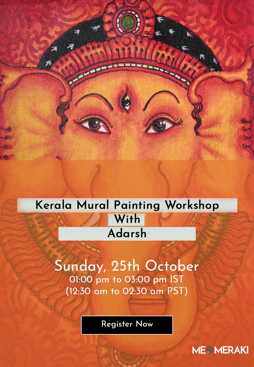 BUY RECORDING: ONLINE KERALA MURAL WORKSHOP WITH ADARSH